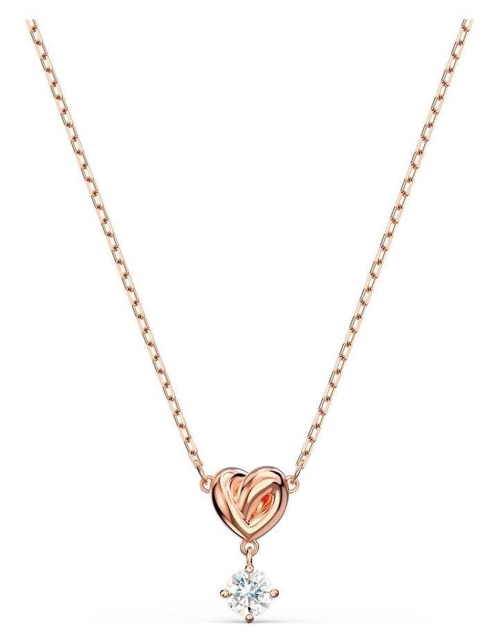 Lifelong Heart Pendant - White - Rose-gold Tone Plated image 1