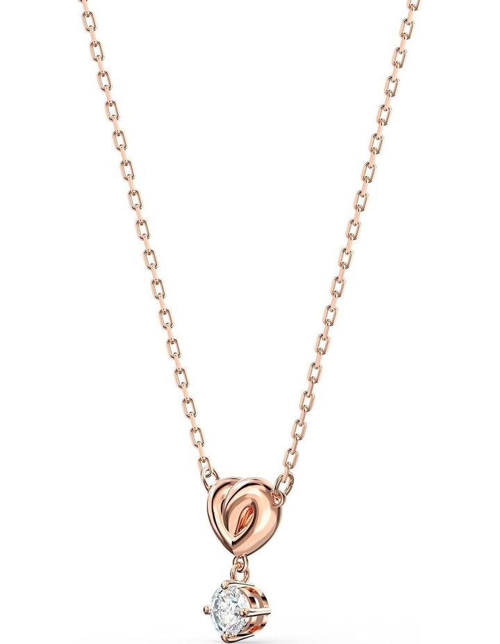 Lifelong Heart Pendant - White - Rose-gold Tone Plated image 3