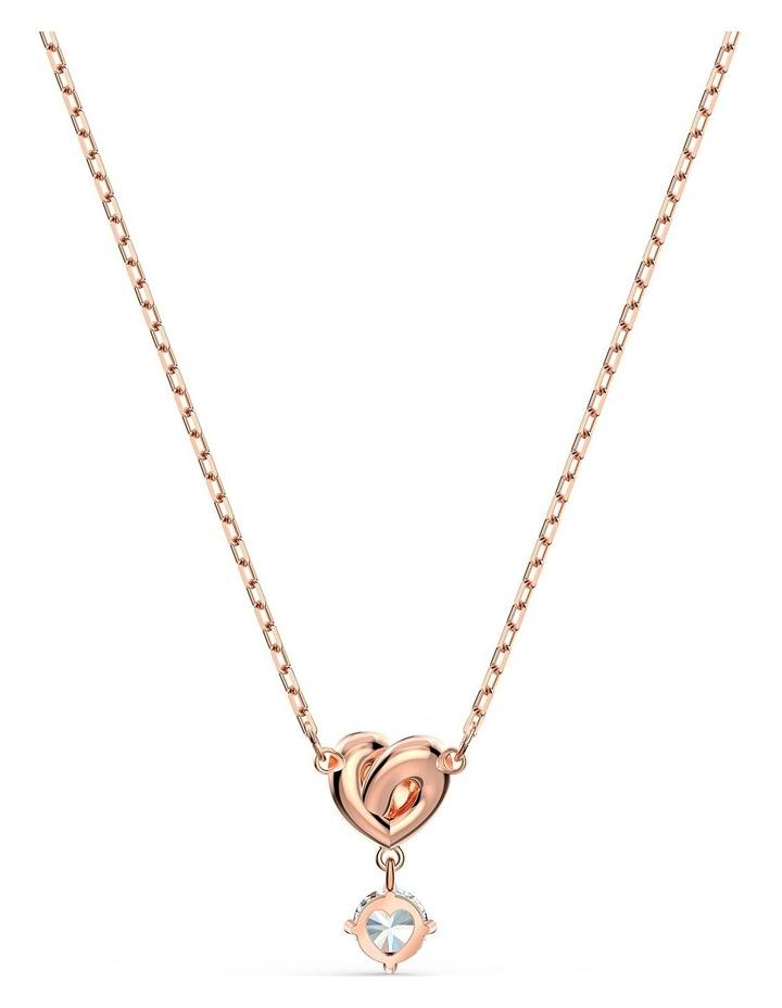 Lifelong Heart Pendant - White - Rose-gold Tone Plated image 4