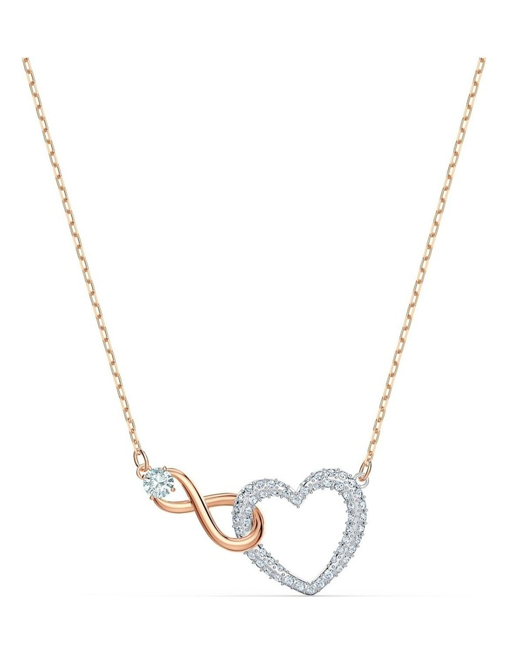 Infinity Heart Necklace - White - Mixed Metal Finish image 1