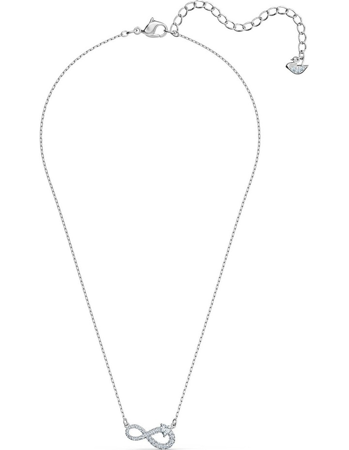 Infinity Necklace - White - Rhodium Plated image 2