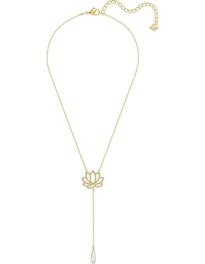 Symbolic Lotus Necklace - White - Gold-tone Plated image 2
