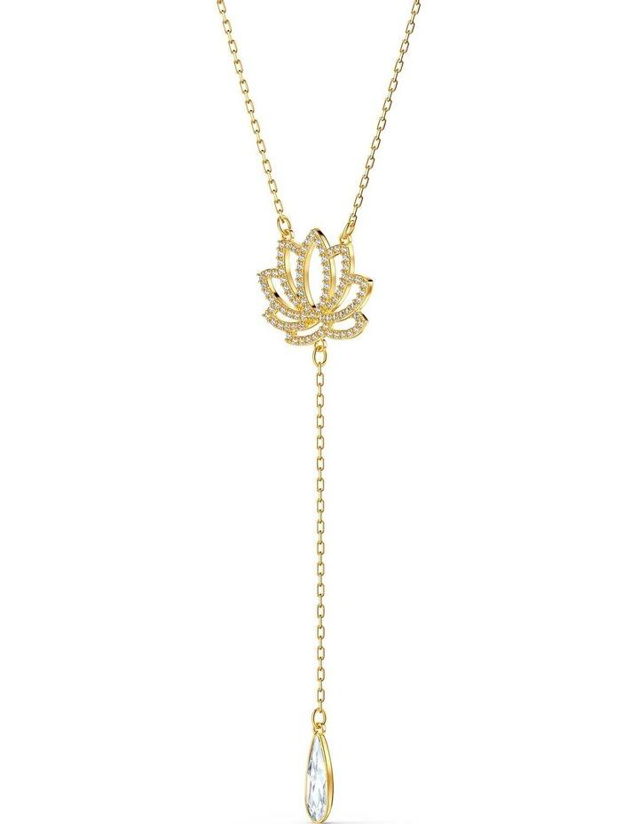 Symbolic Lotus Necklace - White - Gold-tone Plated image 3