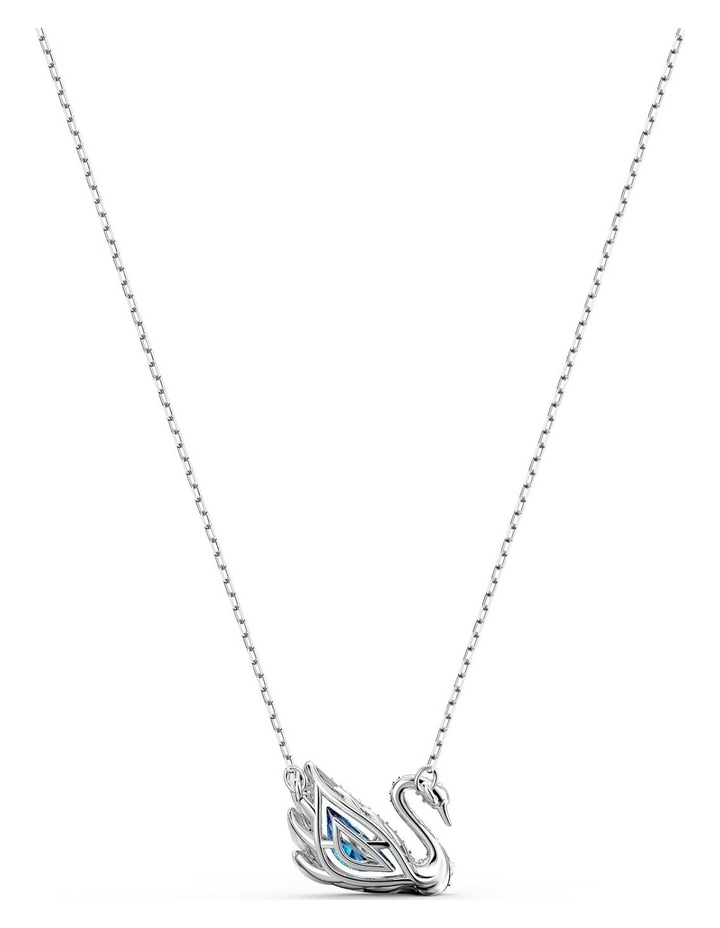 Dancing Swan Necklace - Blue - Rhodium Plated image 4