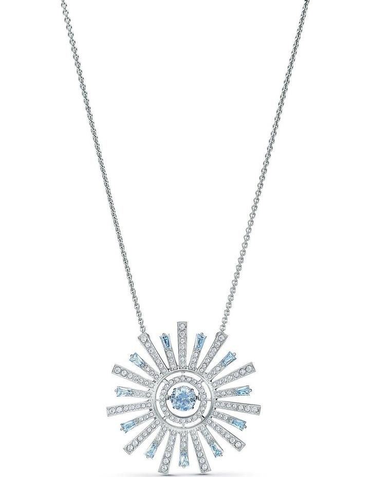 Sunshine Necklace - Blue - Rhodium Plated image 1
