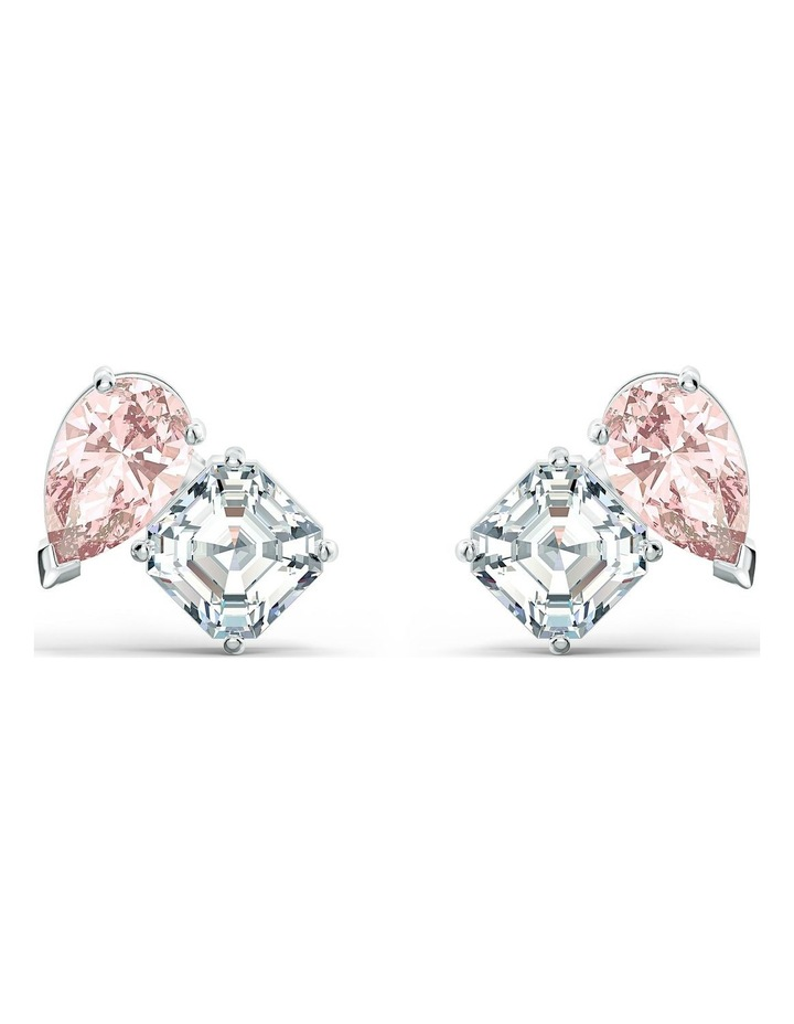 Attract Soul Pierced Earrings - Pink - Rhodium Plated image 1