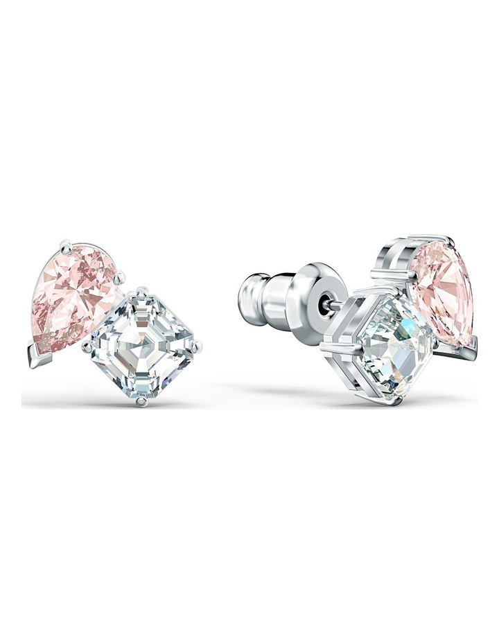 Attract Soul Pierced Earrings - Pink - Rhodium Plated image 2