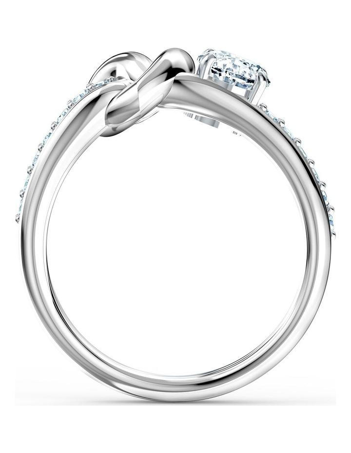 Lifelong Heart Ring - White - Rhodium Plated 55mm image 2