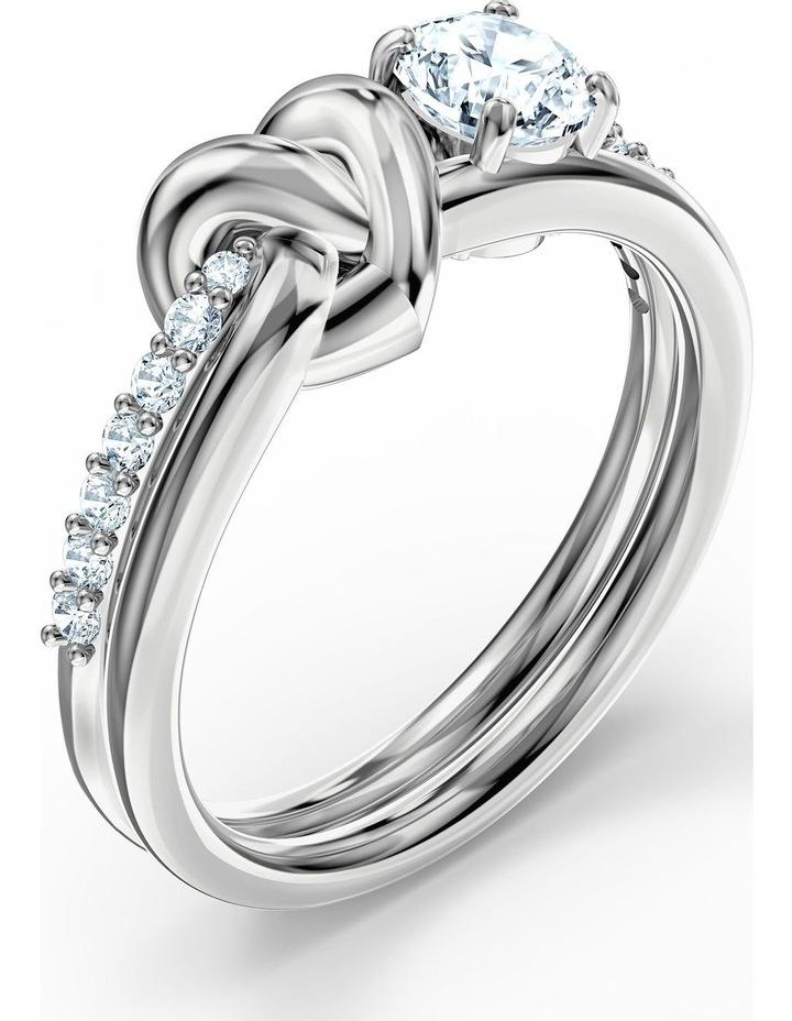Lifelong Heart Ring - White - Rhodium Plated 55mm image 3