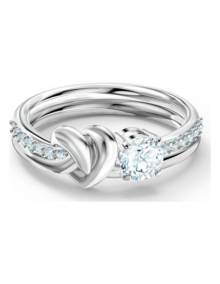 Lifelong Heart Ring - White - Rhodium Plated 52mm image 1