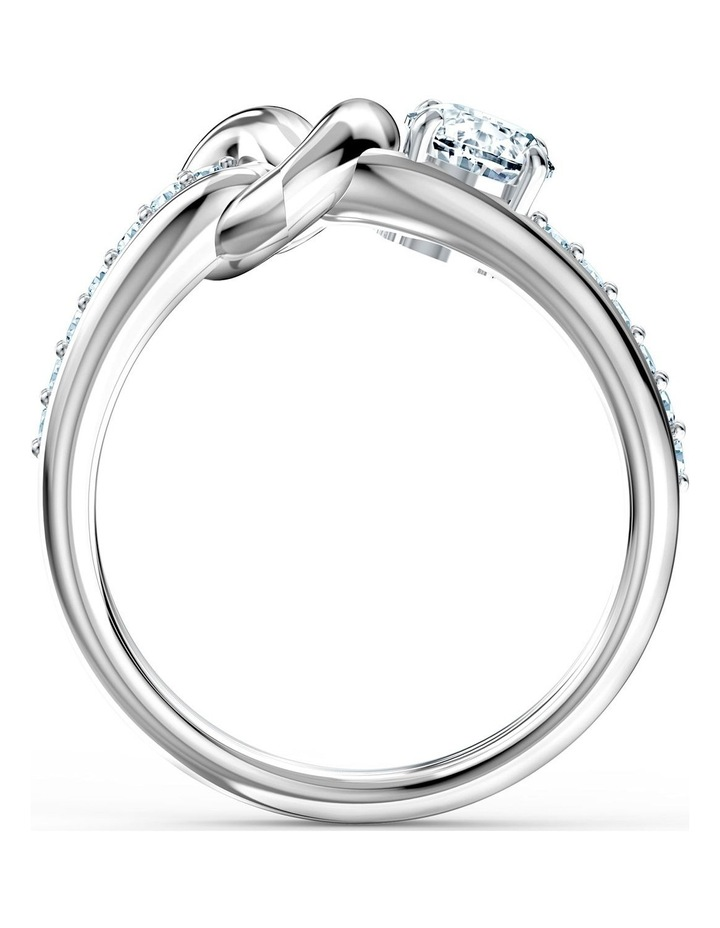 Lifelong Heart Ring - White - Rhodium Plated 52mm image 2