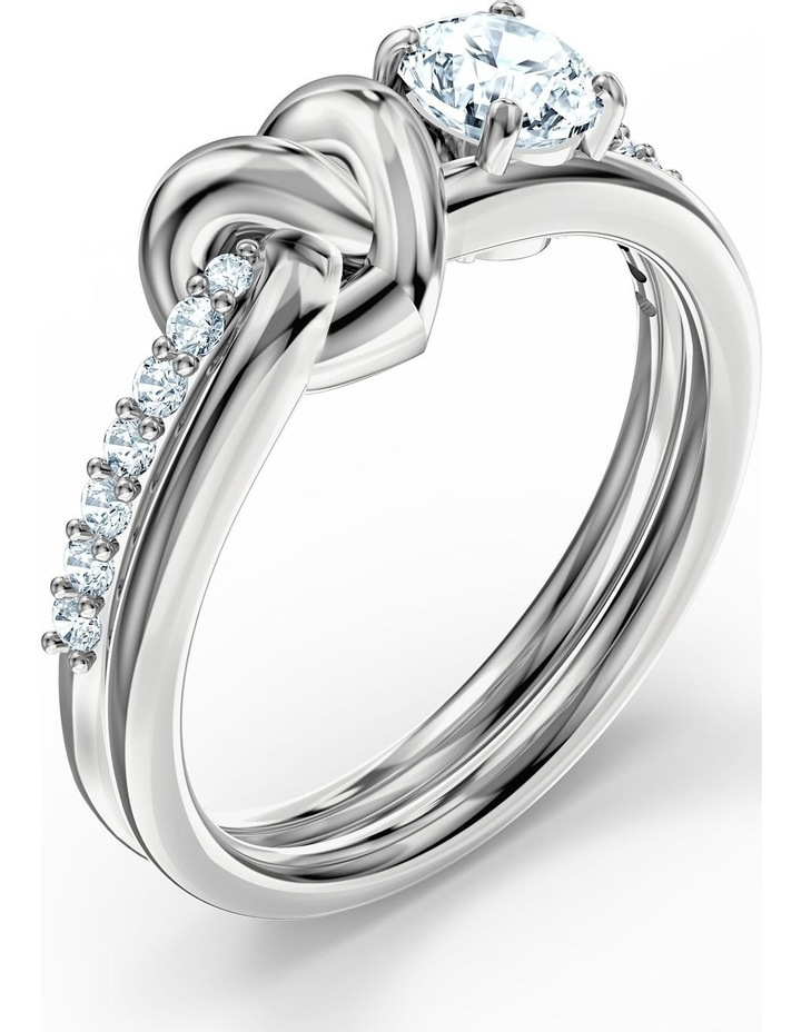 Lifelong Heart Ring - White - Rhodium Plated 52mm image 3