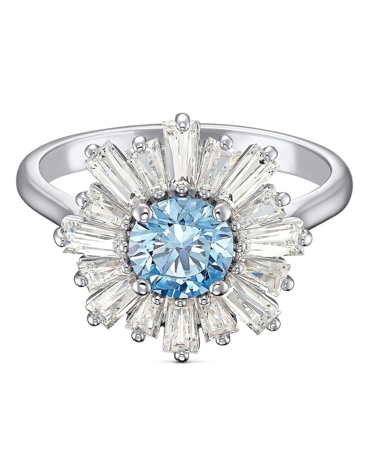 Sunshine Ring - Blue - Rhodium Plated 52mm image 1