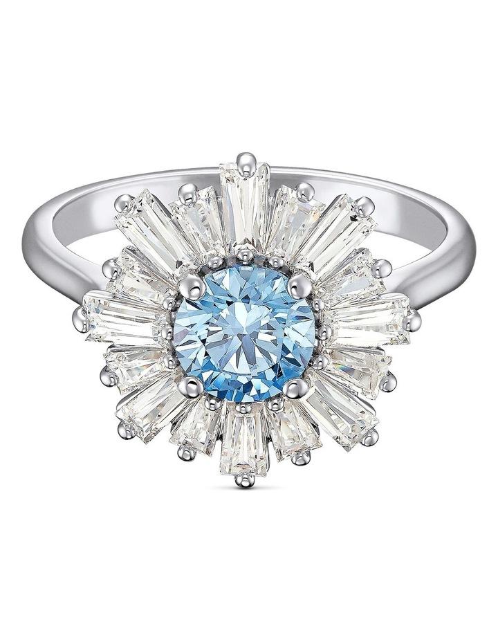 Sunshine Ring - Blue - Rhodium Plated 60mm image 1