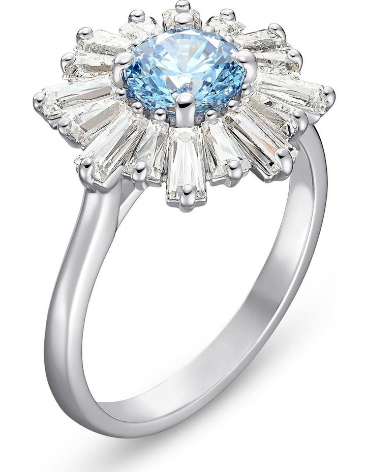 Sunshine Ring - Blue - Rhodium Plated 60mm image 3