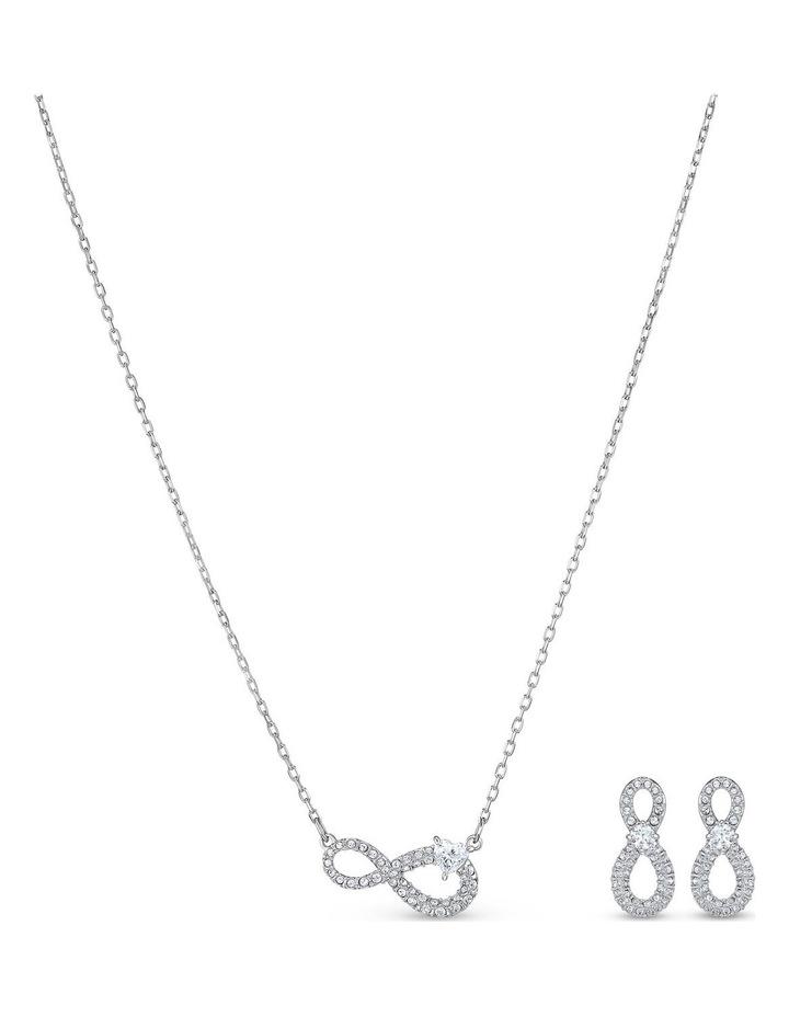 Swarovski Infinity Set - White - Rhodium Plated image 1