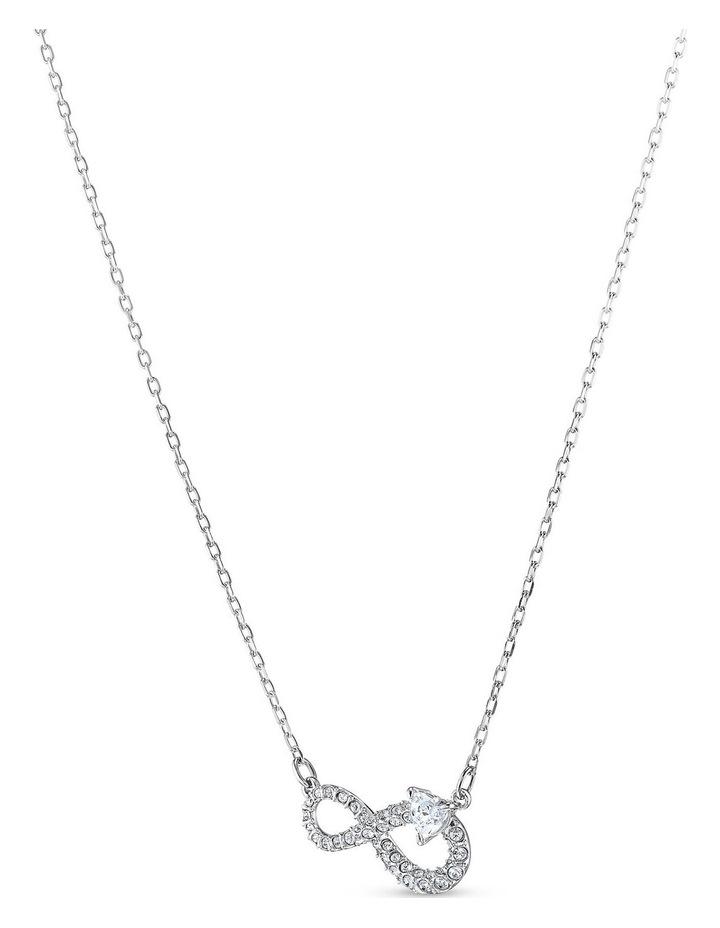 Swarovski Infinity Set - White - Rhodium Plated image 3