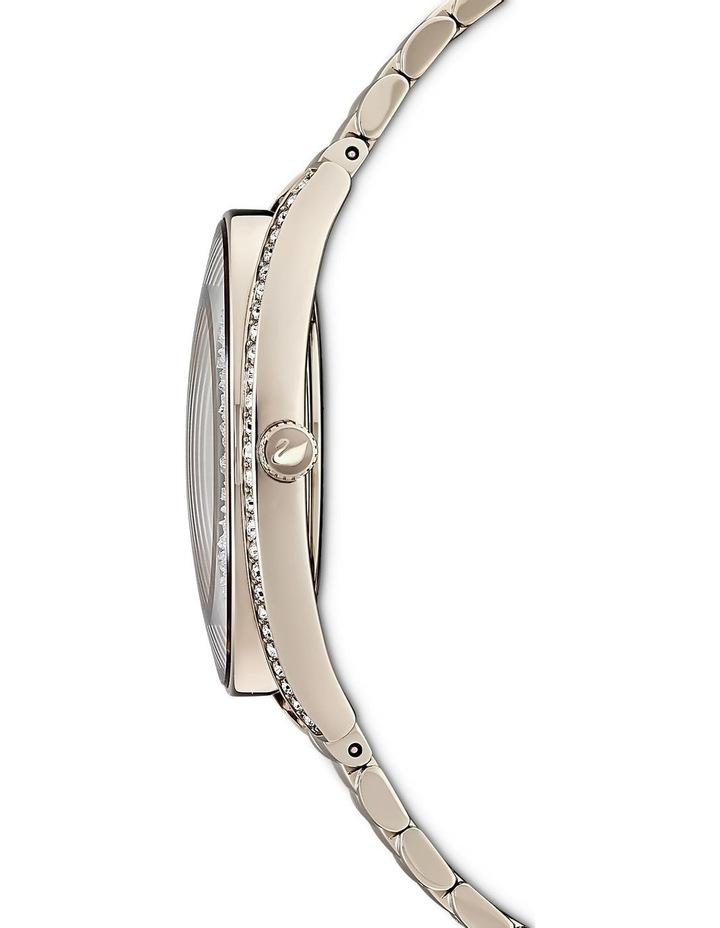 Crystalline Aura Watch - Metal Bracelet - Gold Tone - Champagne-gold Tone Pvd image 2