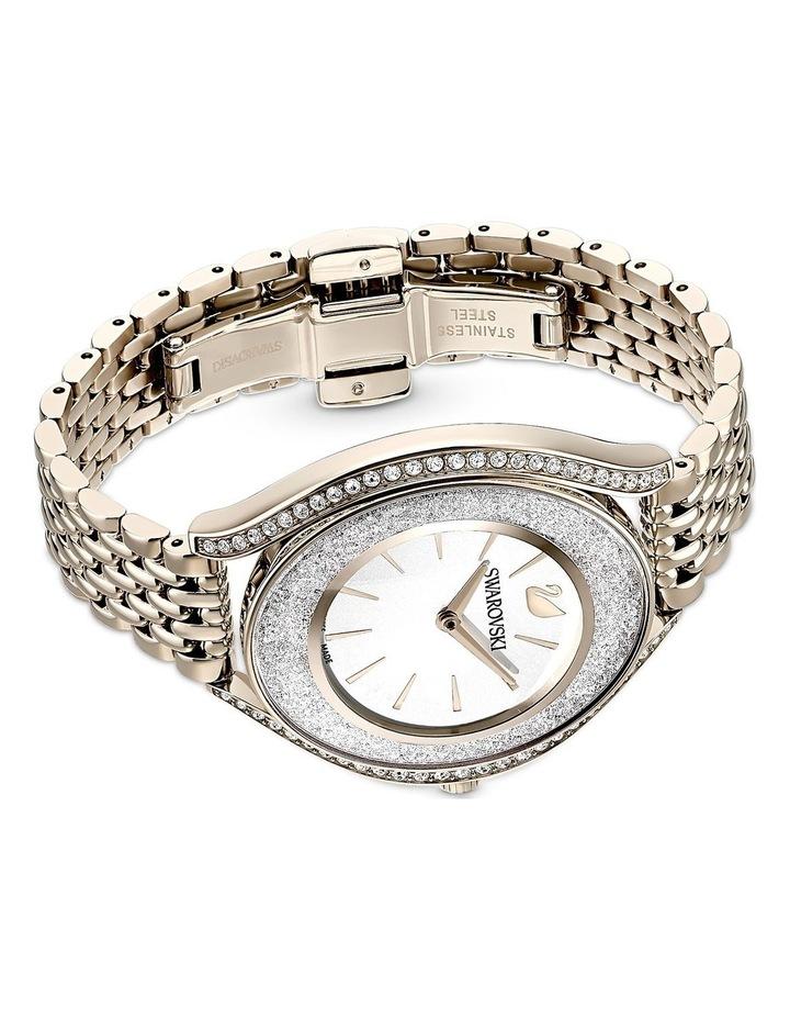 Crystalline Aura Watch - Metal Bracelet - Gold Tone - Champagne-gold Tone Pvd image 3