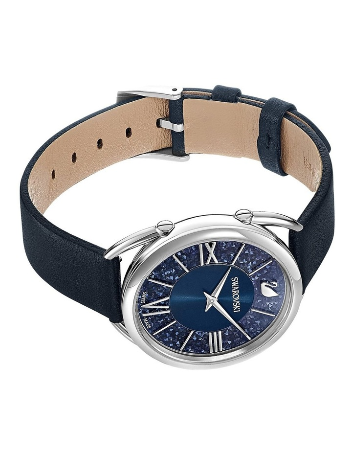 Crystalline Glam Watch - Leather Strap - Blue - Stainless Steel image 3