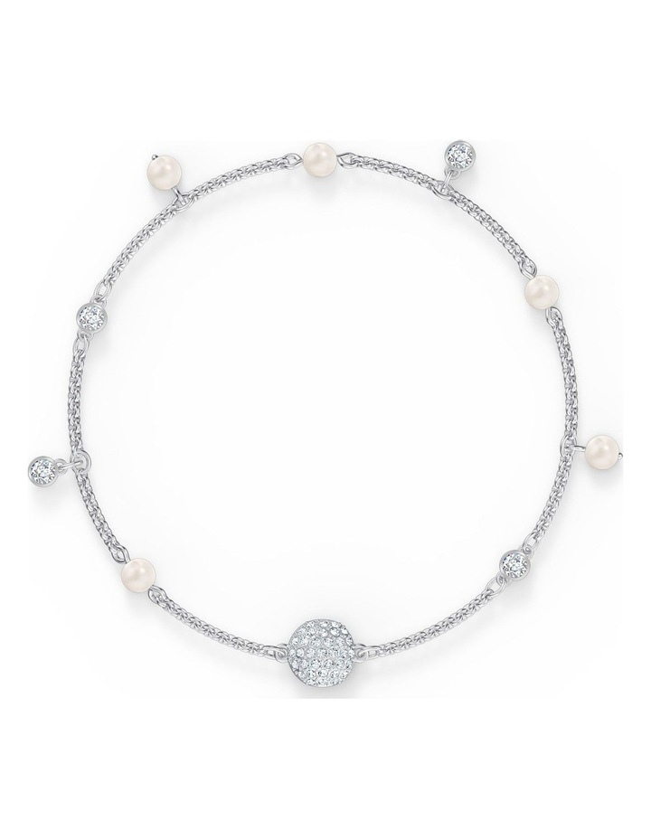 Remix Collection Delicate Pearl Strand - White - Rhodium Plated image 1
