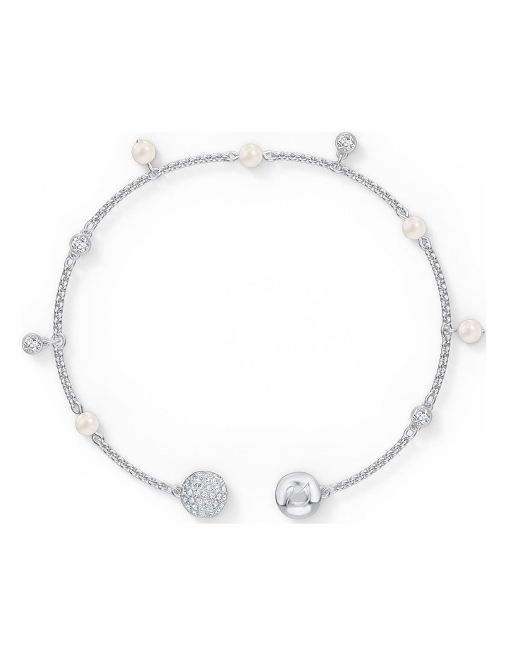 Remix Collection Delicate Pearl Strand - White - Rhodium Plated image 3