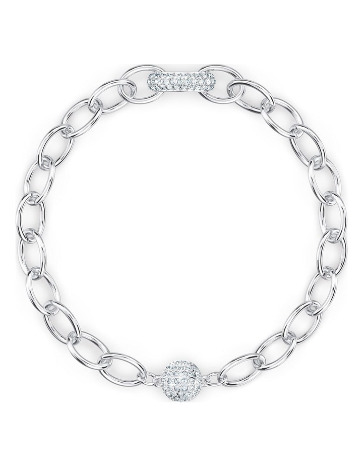 The Elements Chain Bracelet - White - Rhodium Plated image 1