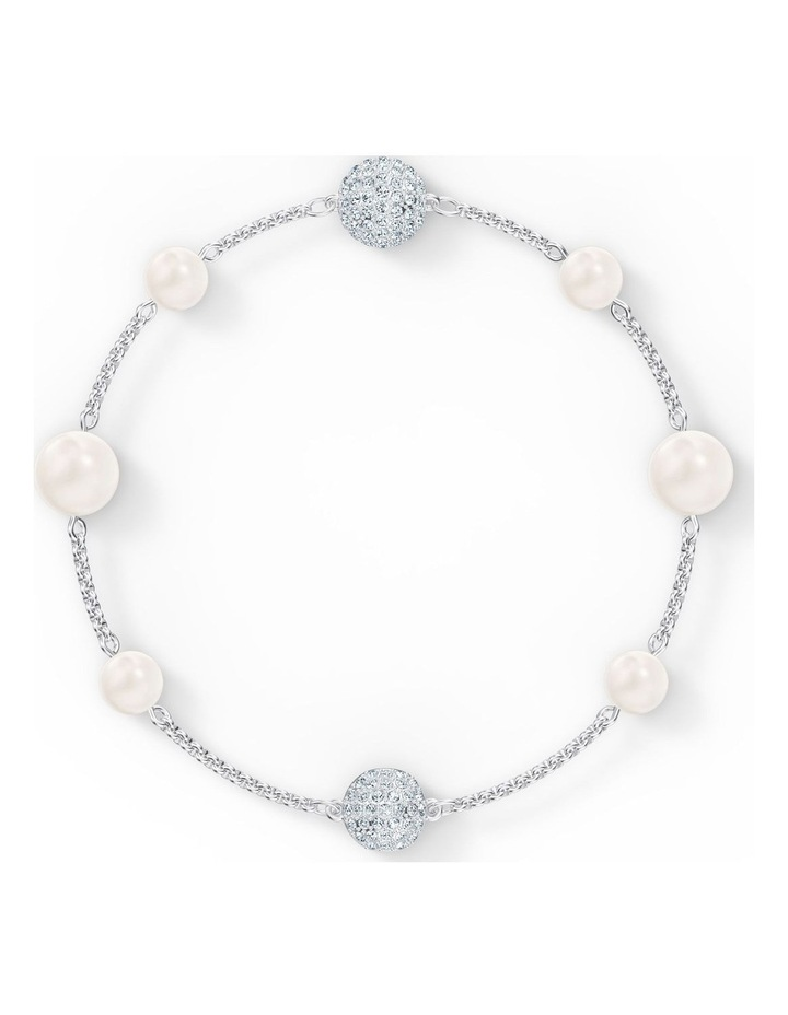 Remix Collection Pearl Strand - White - Rhodium Plated image 1