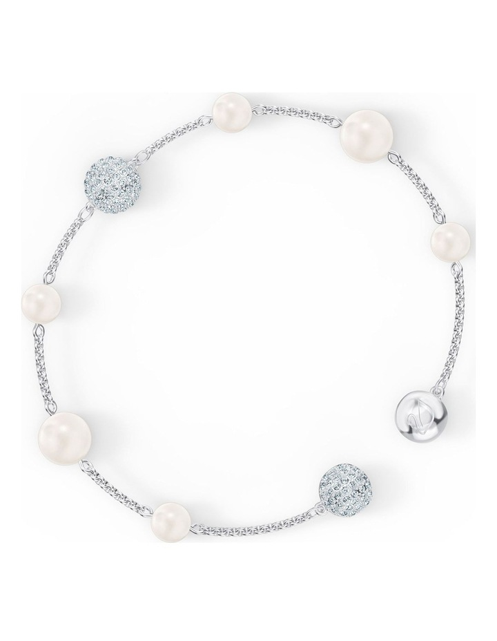 Remix Collection Pearl Strand - White - Rhodium Plated image 3
