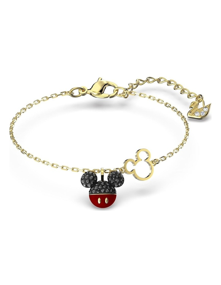 Mickey Bracelet - Black - Gold-tone Plated image 1