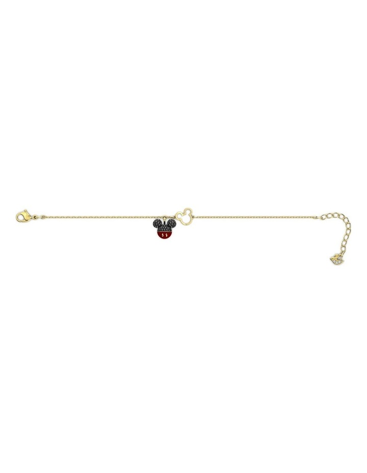 Mickey Bracelet - Black - Gold-tone Plated image 2