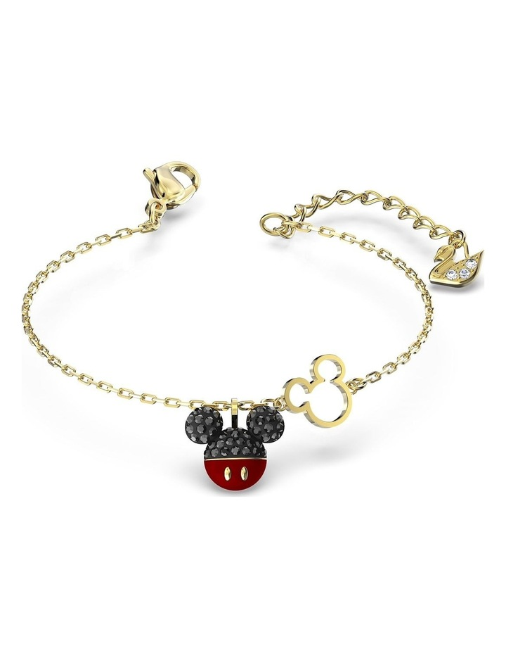 Mickey Bracelet - Black - Gold-tone Plated image 3