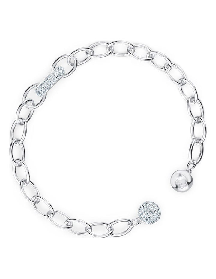 The Elements Chain Bracelet - White - Rhodium Plated image 3