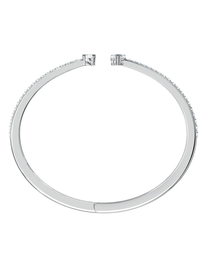 Attract Cuff - White - Rhodium Plated image 2