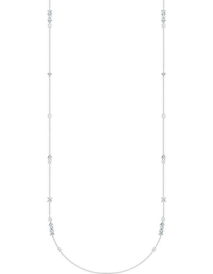 Tennis Deluxe Mixed Strandage - White - Rhodium Plated image 1