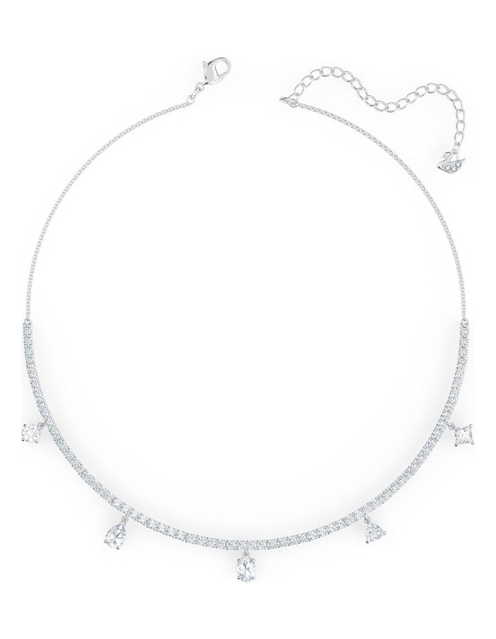 Tennis Deluxe Mixed Choker - White - Rhodium Plated image 2