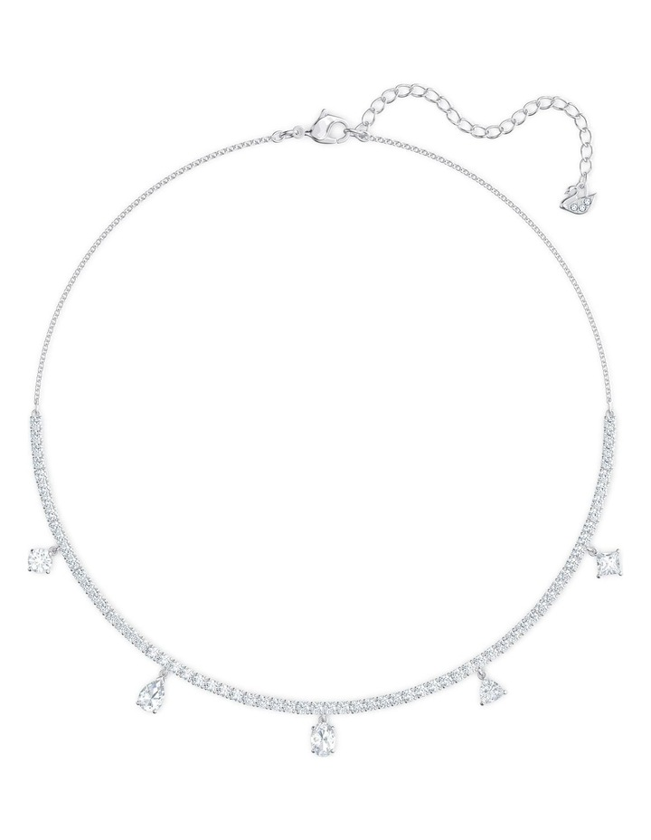 Tennis Deluxe Mixed Choker - White - Rhodium Plated image 3