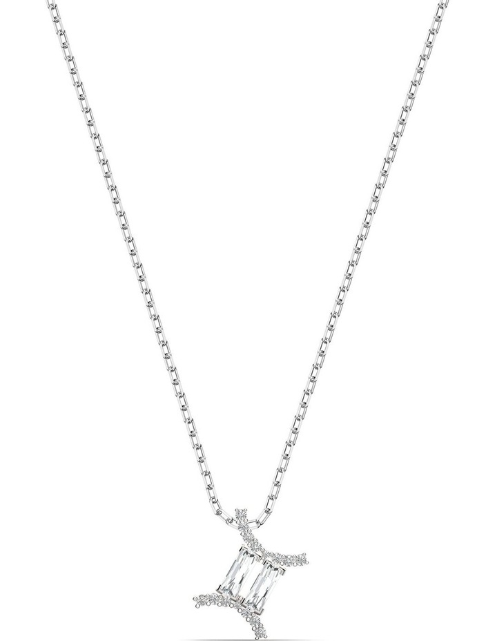 Zodiac Ii Pendant - Gemini - White - Mixed Metal Finish image 1