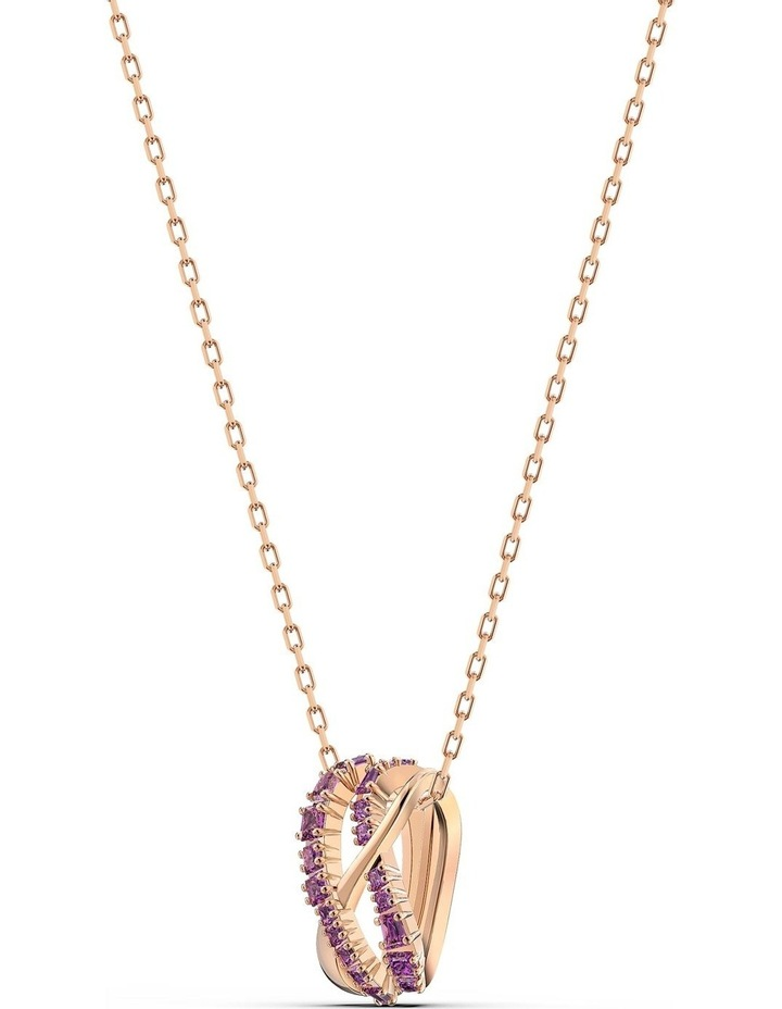 Twist Rows Pendant - Purple - Rose-gold Tone Plated image 3