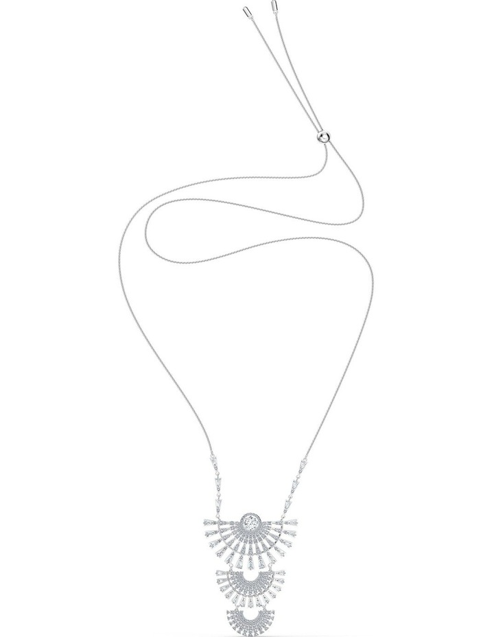 Sparkling Dance Dial Up Necklace - Large - White - Rhodium Plated image 2
