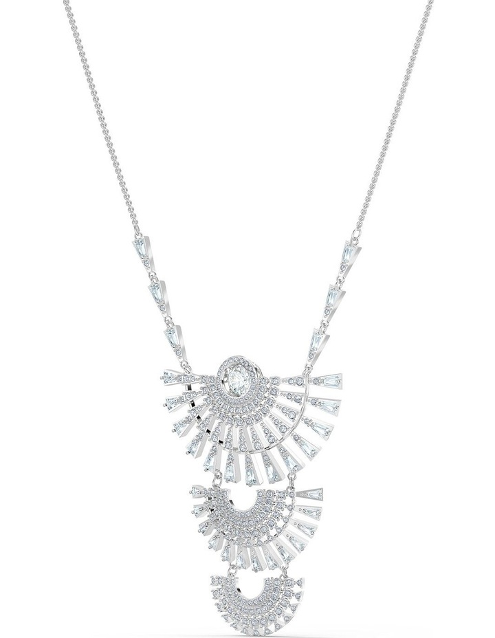 Sparkling Dance Dial Up Necklace - Large - White - Rhodium Plated image 3