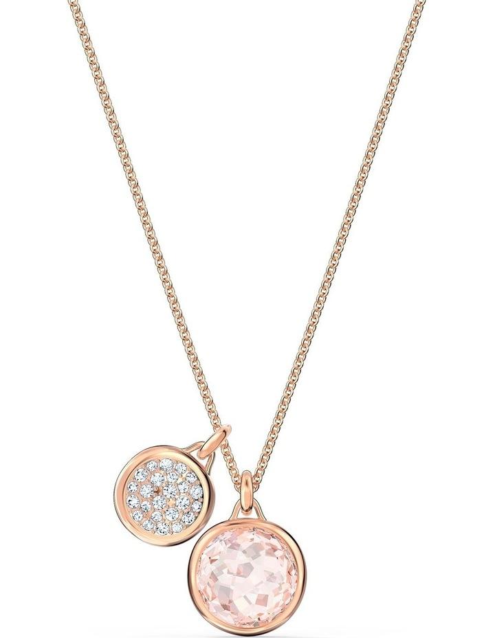 Tahlia Doble Pendant - Pink - Rose-gold Tone Plated image 1
