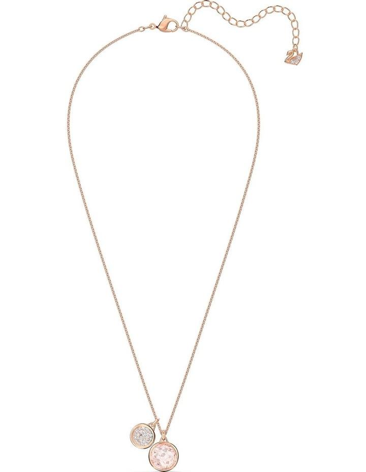 Tahlia Doble Pendant - Pink - Rose-gold Tone Plated image 2
