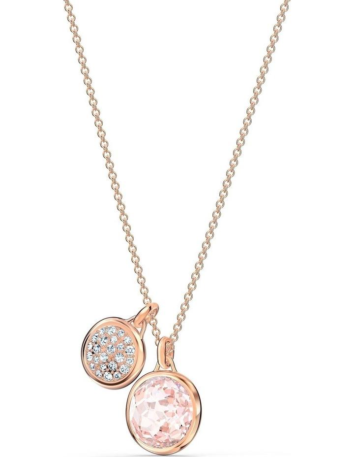 Tahlia Doble Pendant - Pink - Rose-gold Tone Plated image 3