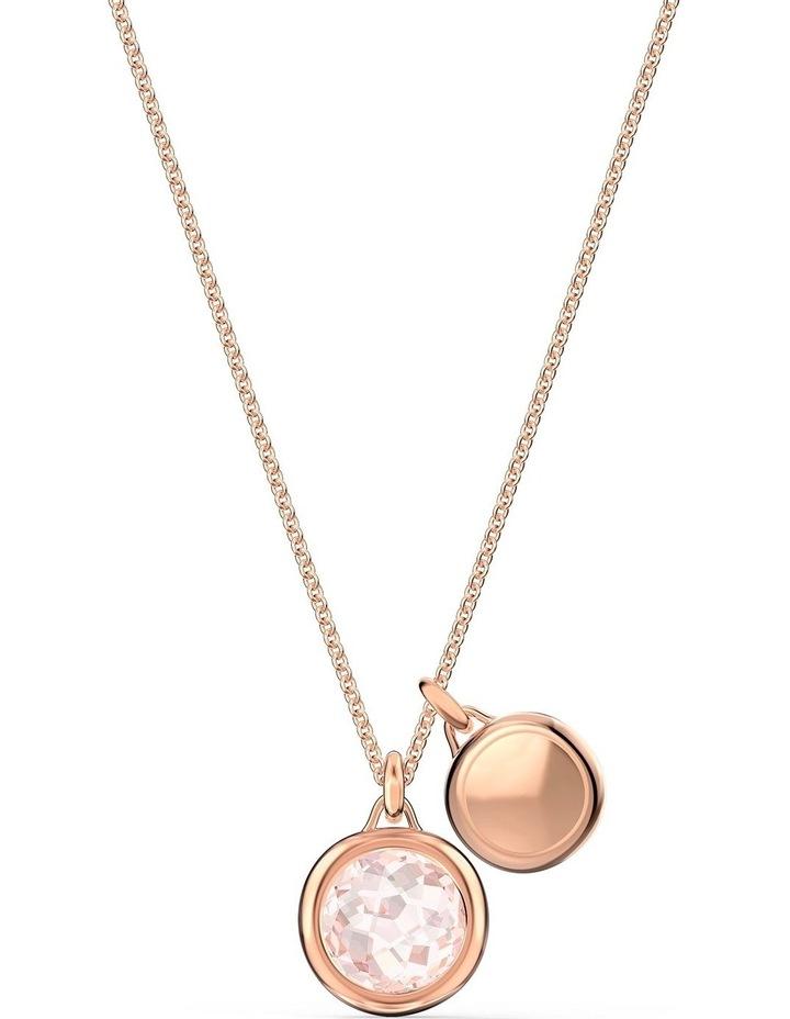Tahlia Doble Pendant - Pink - Rose-gold Tone Plated image 4