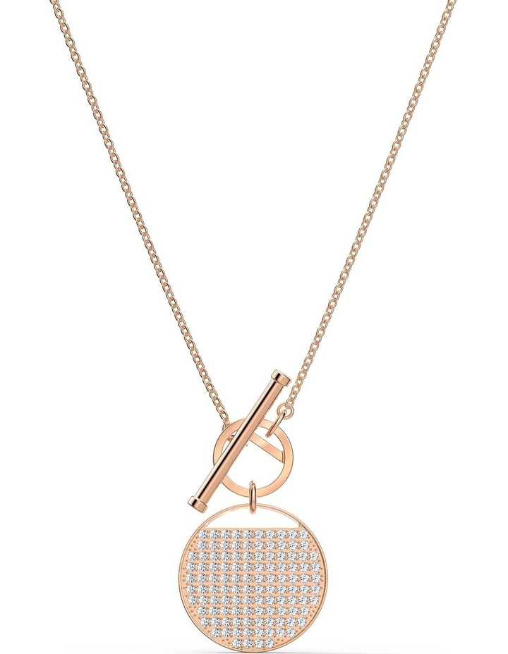 Ginger T Bar Necklace - White - Rose-gold Tone Plated image 1