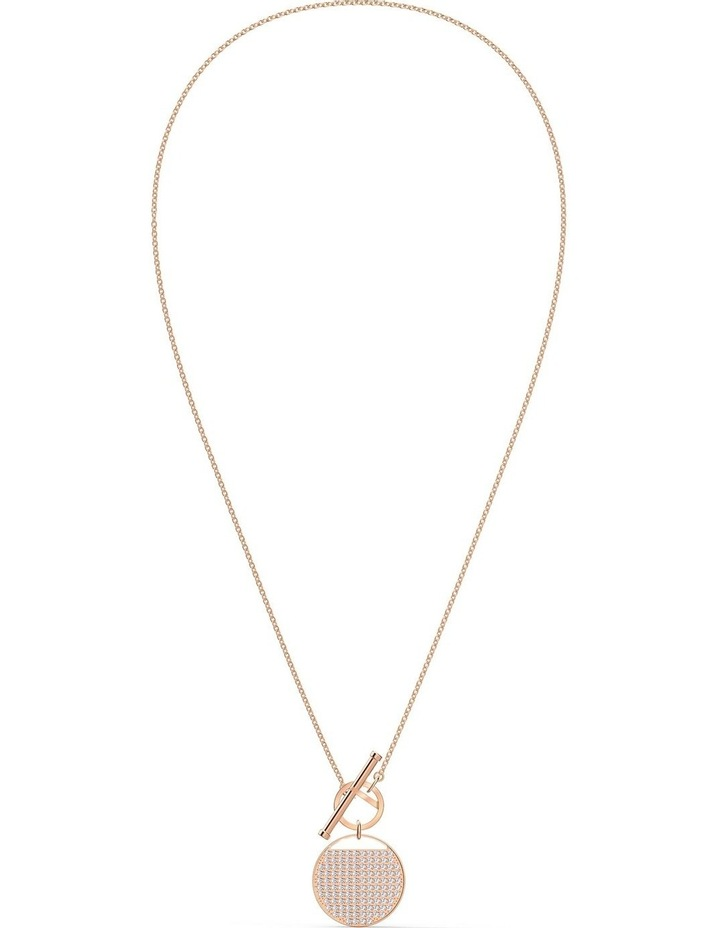 Ginger T Bar Necklace - White - Rose-gold Tone Plated image 2