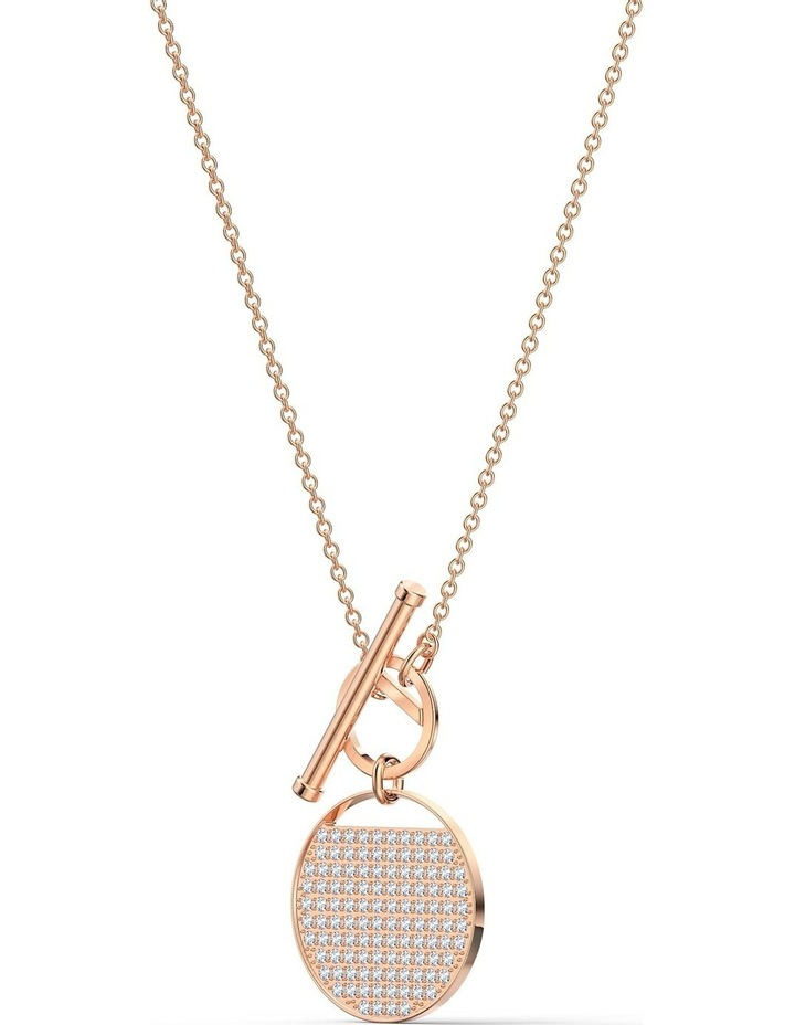 Ginger T Bar Necklace - White - Rose-gold Tone Plated image 3