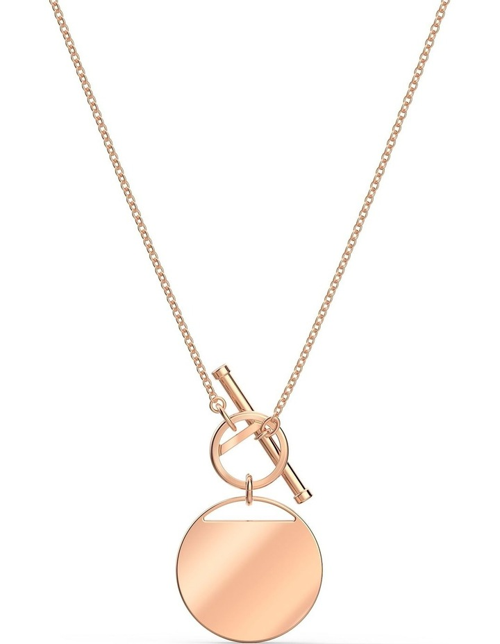 Ginger T Bar Necklace - White - Rose-gold Tone Plated image 4