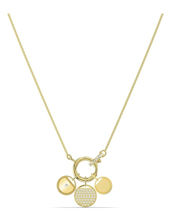 Ginger Charm Necklace - White - Gold-tone Plated image 1